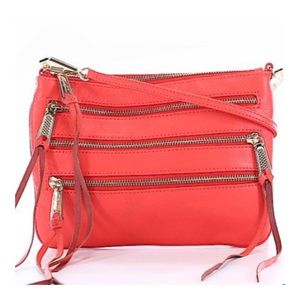 Rebecca Minkoff Leather Crossbody Zippered Bag